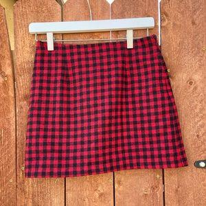 NWOT!! Red plaid skirt from Forever 21